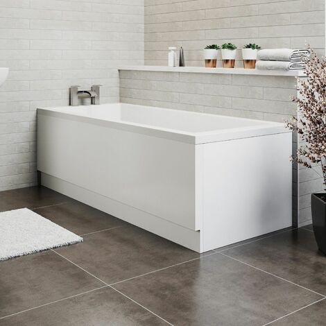 Modern Acrylic Bath Panel Pack Set Gloss White Finish 1500 750 Bathroom