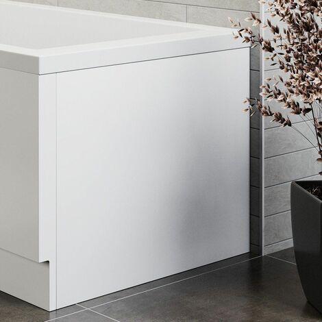Modern Acrylic End Bath Panel Gloss White Finish 800 Bathroom