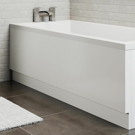 Modern Acrylic Side Bath Panel Gloss White Finish Essentials Range