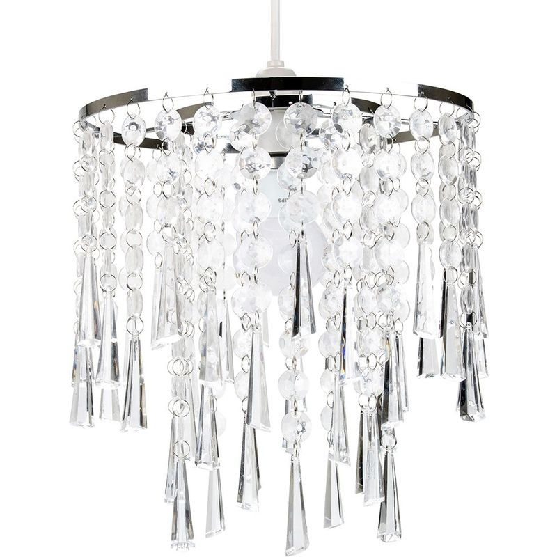 Modern And Contemporary Transpa Acrylic Waterfall Pendant Lighting Shade By Hy Homewares