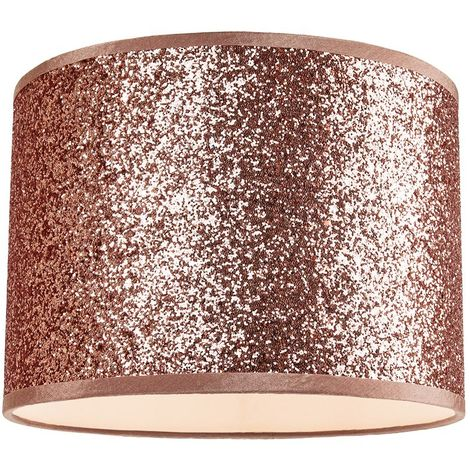 Modern and Designer Bright Copper Glitter Fabric Pendant/Lamp Shade 25cm Wide by Happy Homewares