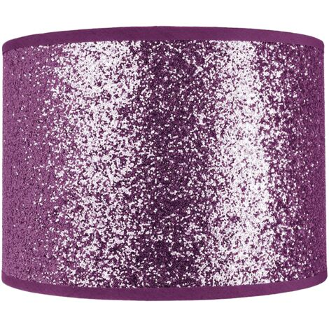 Modern and Designer Bright Purple Glitter Fabric Pendant/Lamp Shade 25cm Wide by Happy Homewares