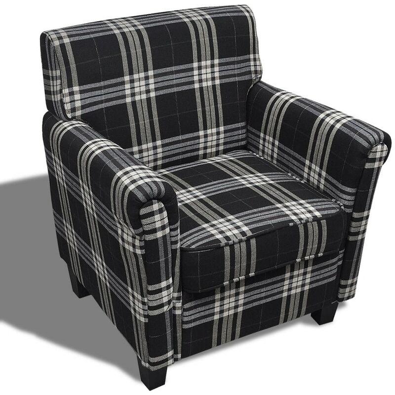Sessel mit Sitzpolster Stoff Schwarz - VIDAXL
