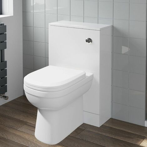 """main image of """"Modern Artis Toilet Soft Close Seat Back To Wall Cistern Furniture Unit White"""""""