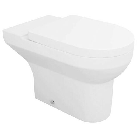 Modern Back to Wall Toilet Pan with Soft Close Seat Bathroom Furniture Sets
