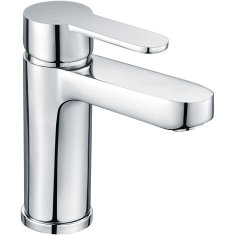 Modern Basin Tap Bathroom Sink Taps Mono Mixer Single Lever Handle Chrome Finish