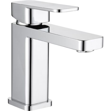 Modern Basin Taps Bathroom Sink Single Chrome Leaver Mixer Tap Hot and Cold