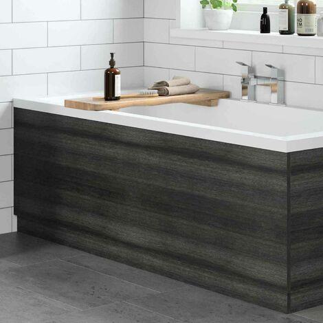 Modern Bathroom 1700mm Front Bath Panel 16mm MDF White Gloss Plinth Easy Cut