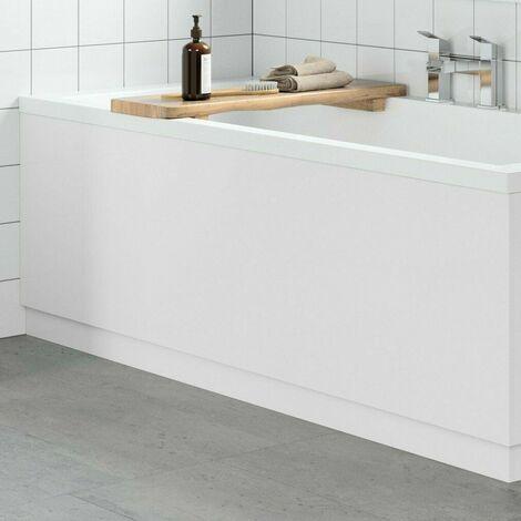 "main image of ""Modern Bathroom 1700mm Front Bath Panel 18mm MDF White Gloss Plinth Easy Cut"""
