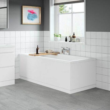 Modern Bathroom 1800 Front & 750 End Bath Panel Pack 18mm MDF White Gloss Plinth