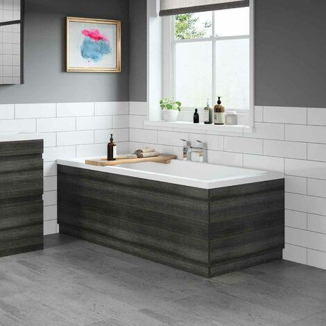 Modern Bathroom 1800 Front & 800 End Bath Panel Pack MDF Charcoal Grey Plinth