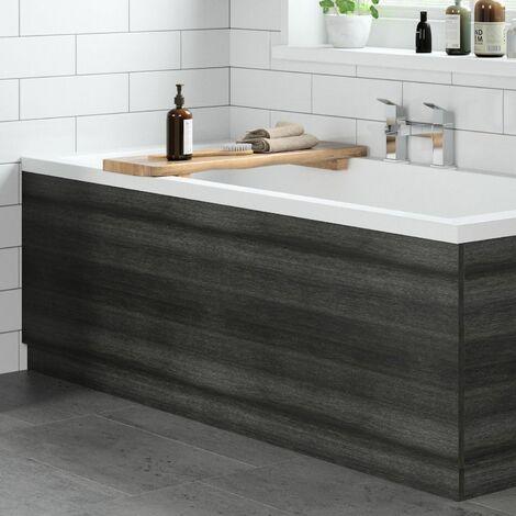 Modern Bathroom 1800mm Front Bath Panel 18mm MDF Charcoal Grey Plinth Easy Cut