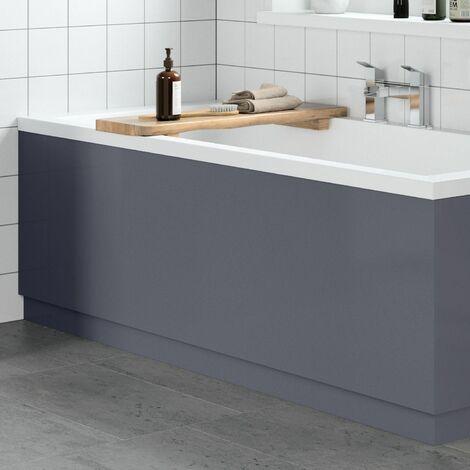 Modern Bathroom 1800mm Front Bath Panel 18mm MDF Grey Gloss Plinth Easy Cut