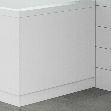 Modern Bathroom 700mm End Bath Panel 18mm MDF White Gloss Wooden Plinth Easy Cut