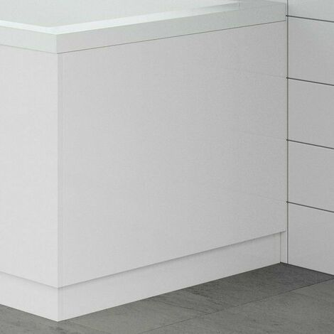 Modern Bathroom 750mm End Bath Panel 18mm MDF White Gloss Wooden Plinth Easy Cut