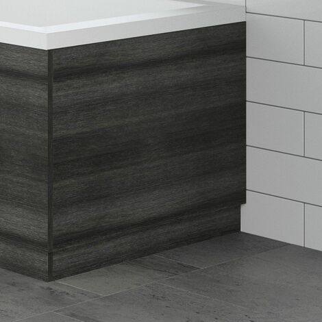 Modern Bathroom 800mm End Bath Panel 18mm MDF Charcoal Grey Wood Plinth Easy Cut