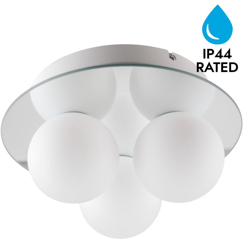 Opal Gl 3 Light Ip44 Bathroom