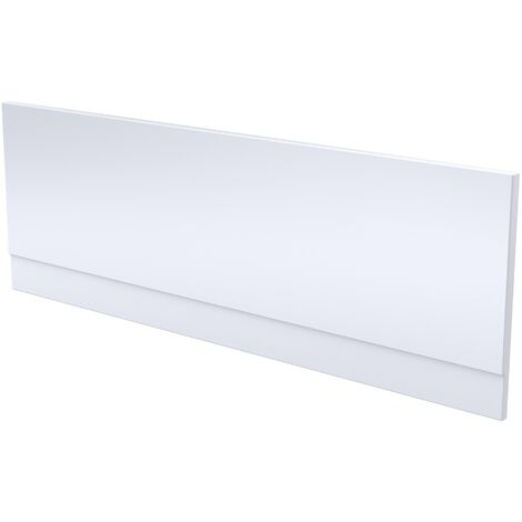 Modern Bathroom Front Bath Side Panel 1500 x 510mm Acrylic Gloss White Easy Cut