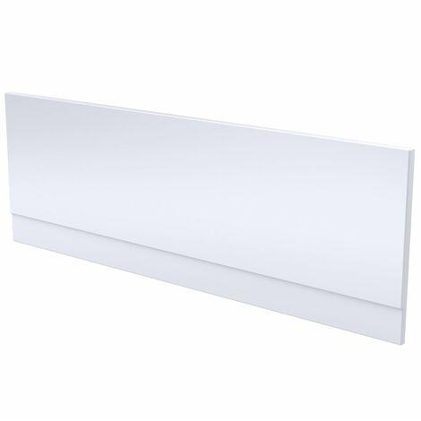 "main image of ""Modern Bathroom Front Bath Side Panel 1600 x 510mm Acrylic Gloss White Easy Cut"""