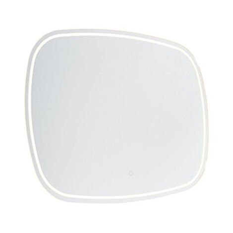 Modern bathroom mirror 60x80 cm incl. LED with touch dimmer IP44 - Miral