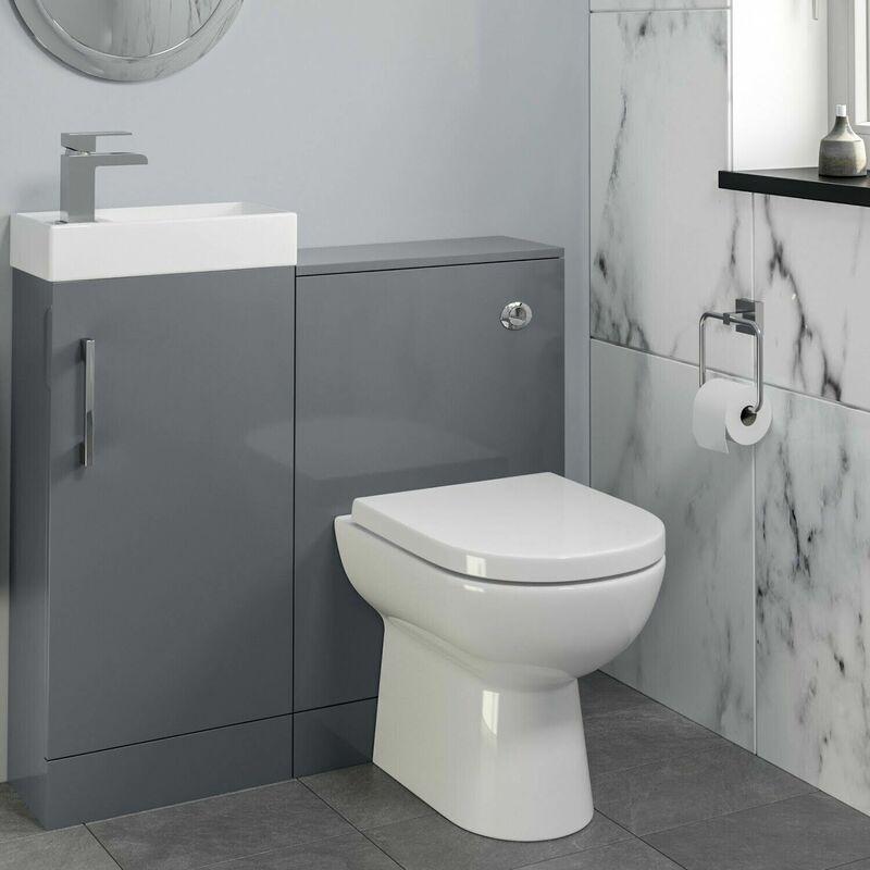 Modern Bathroom Toilet & Basin Sink Vanity Unit 900mm ...