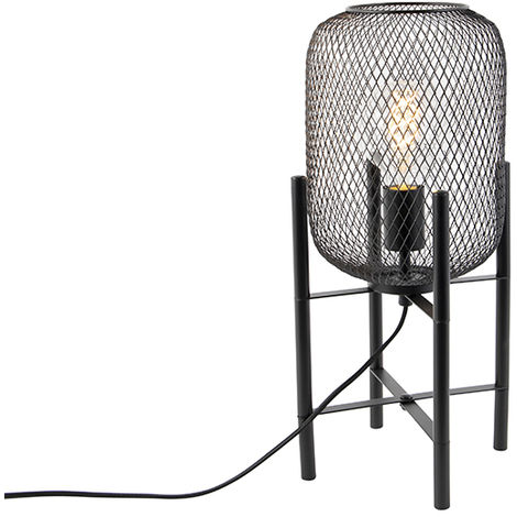 Modern black table lamp - Bliss Mesh