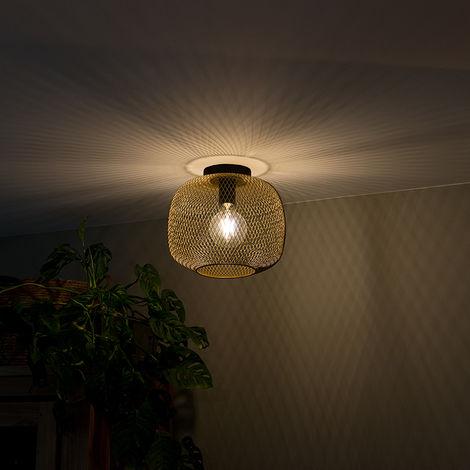 "main image of ""Modern black with golden ceiling lamp - Bliss Mesh"""