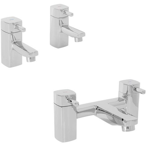 Modern Brass Chrome Bathroom Basin Bath & Shower Tap Packs