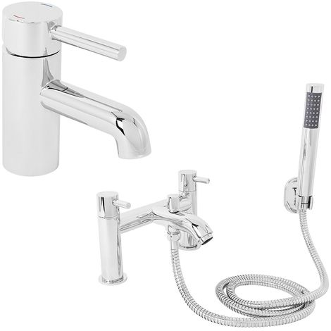 Modern Brass Chrome Bathroom Basin Bath & Shower Tap Packs
