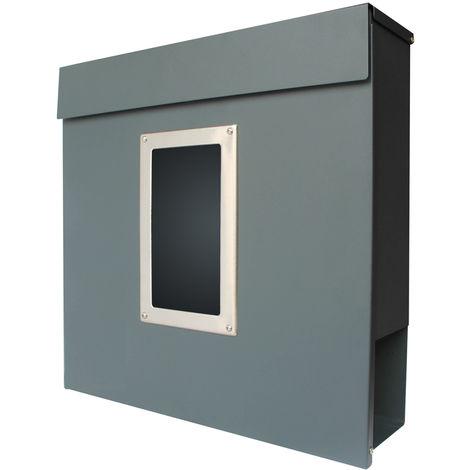 Modern Briefkasten V2Aox Wandbriefkasten Postkasten Zeitungsfach Zeitungsrolle Stahl