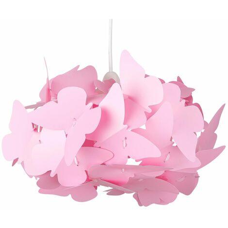 Modern Butterfly Ceiling Light Shade Easy Fit Pendant Girls Bedroom Light