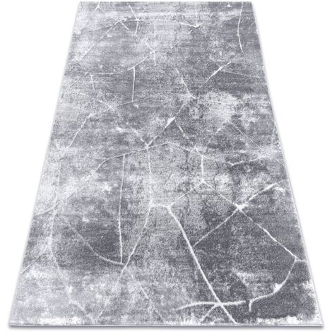 Modern carpet MEFE 2783 Marble - structural two levels of fleece dark grey - 180x270 cm