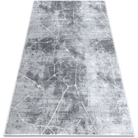 Modern carpet MEFE 2783 Marble - structural two levels of fleece grey - 80x150 cm