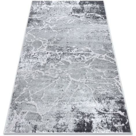 Modern carpet MEFE 6182 Concrete - structural two levels of fleece grey - 120x170 cm