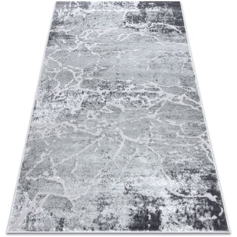 Modern carpet MEFE 6182 Concrete - structural two levels of fleece grey - 160x220 cm