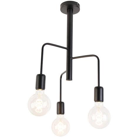 Modern Ceiling Lamp 5 Black - Facile