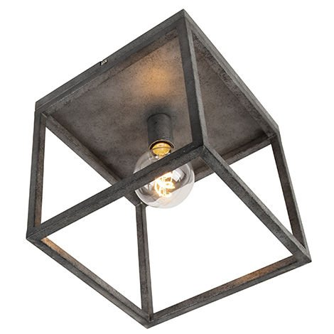 Modern ceiling lamp antique silver - Big Cage