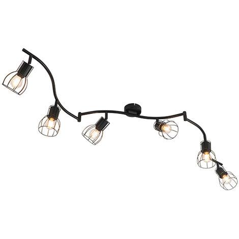Modern ceiling lamp black 162 cm 6-lights - Botu