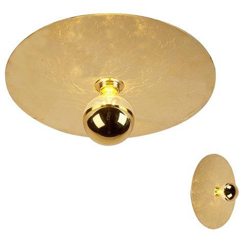 Modern ceiling lamp gold 40cm - Disque