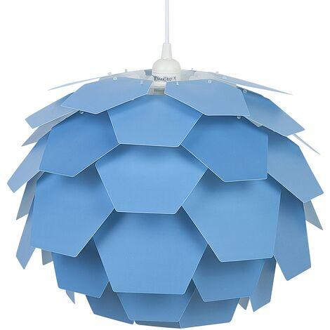 Modern Ceiling Pendant Light Blue Geometric Shade Flower Design Small Segre