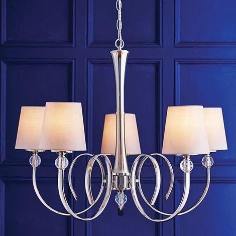 Modern Ceiling Pendant Light Vintage Lamp Shade Chandelier Steel-Fabric Drop