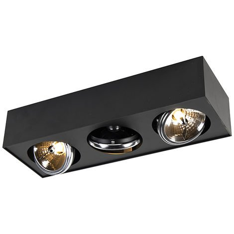 "main image of ""Modern Square Spotlight 1 Black incl. G9 LED - Kaya"""