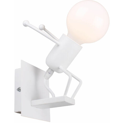 Modern Childlike Ceiling Light Vivid Creative Person Shape Wall Lamp for Children Room, Bedroom , Hallway, Restaurant, Kitchen White