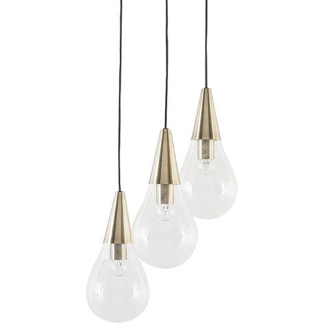 Modern Cluster Pendant Lamp 3-Light Clear Glass Kitchen Island Vesle