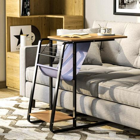 Modern Coffee Side Table C-shape Desk Home Office Tables