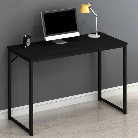Cherry Tree Furniture Modern Compact Desk Table Computer Workstation PC Table 120 X 76 X 45 CM (Black)