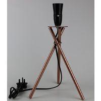 Modern Copper Effect Tripod Style Table Lamp Base