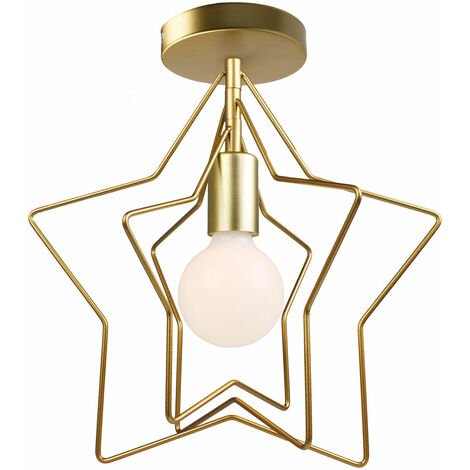 Modern Creative Rotatable Wall Light Stars Shape Chandelier Postmodern Nordic Ceiling Light for Office Bar Living room Cafe Gold