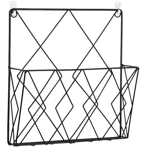 Modern Creative Wall Storage Rack Decorative Wall Iron for Home Bedroom Books Bedroom Magazines Books Display Stands Black