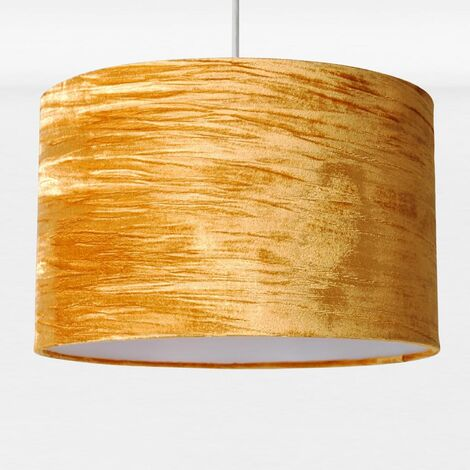 Modern Crushed Velvet Easy Fit Ceiling Light Shade Pendant Drum Shade